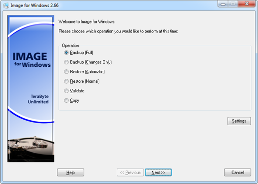 Image for Windows with IFD GUI 2.99-00