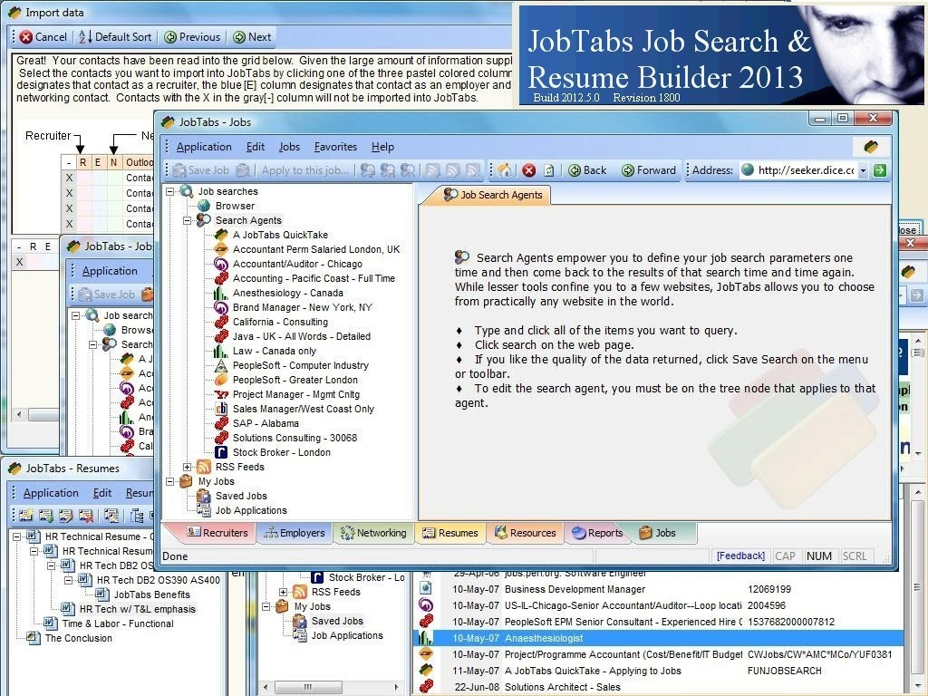 JobTabs Job Search and Resume Builder 2013 5.0.0.1812
