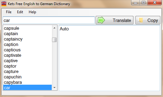 Kets Free English to German dictionary 1.0