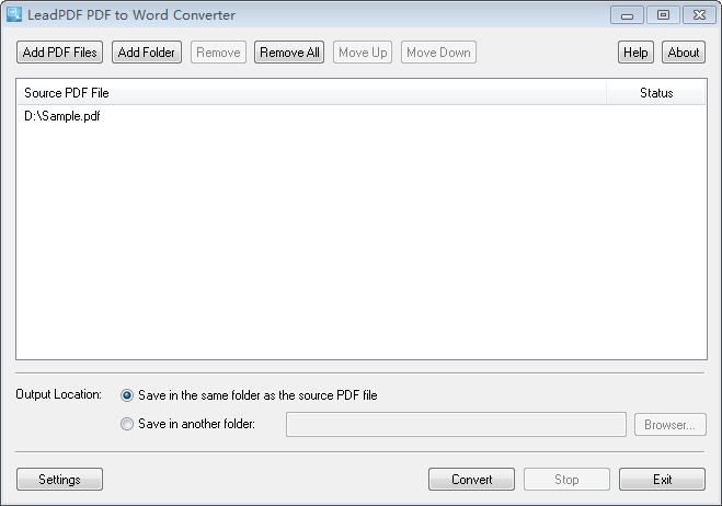 LeadPDF PDF to Word Converter 11.0