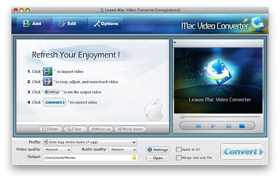 Leawo Free Mac Video Converter 1.4.0.0
