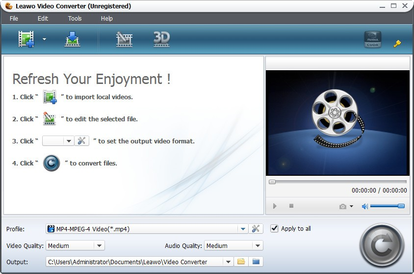 Leawo WMV to MP4 Converter 5.4.0.0