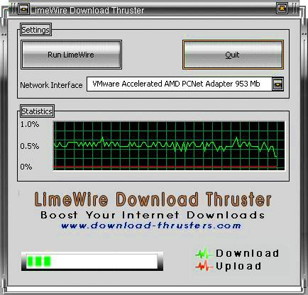 LimeWire Download Thruster 3.5.0