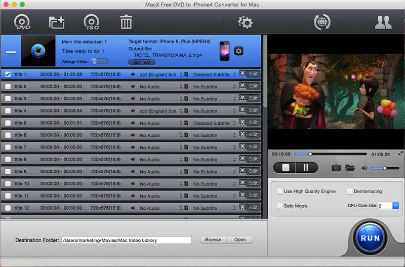 MacX Free DVD to iPhone4 Converter 4.2.0
