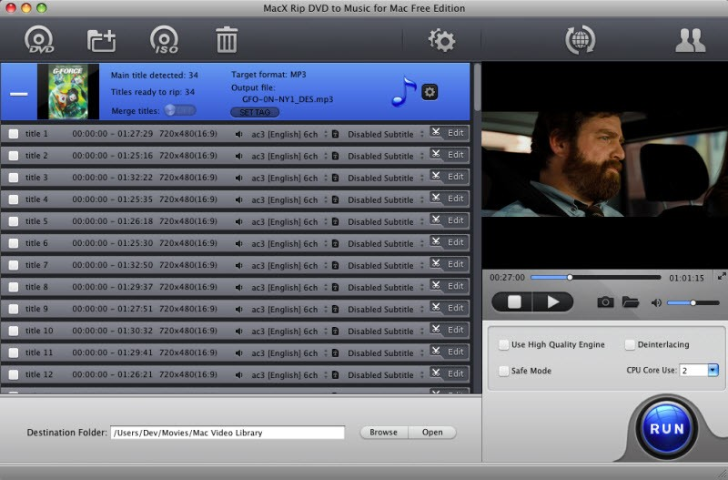 MacX Rip DVD to Music for Mac Free 4.1.9