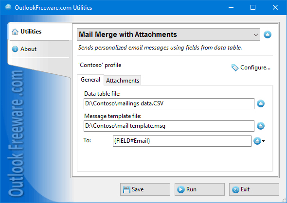 Mail Merge with Attachments for Outlook 4.7