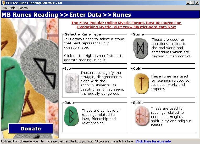 MB Free Runes Reading Software 1.25