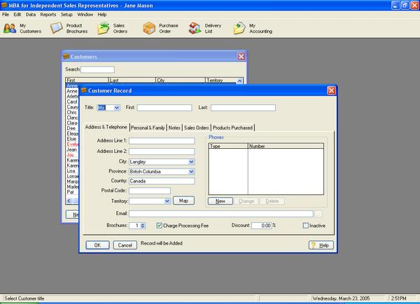 MBA Software for Avon Reps 2.10e 1.0