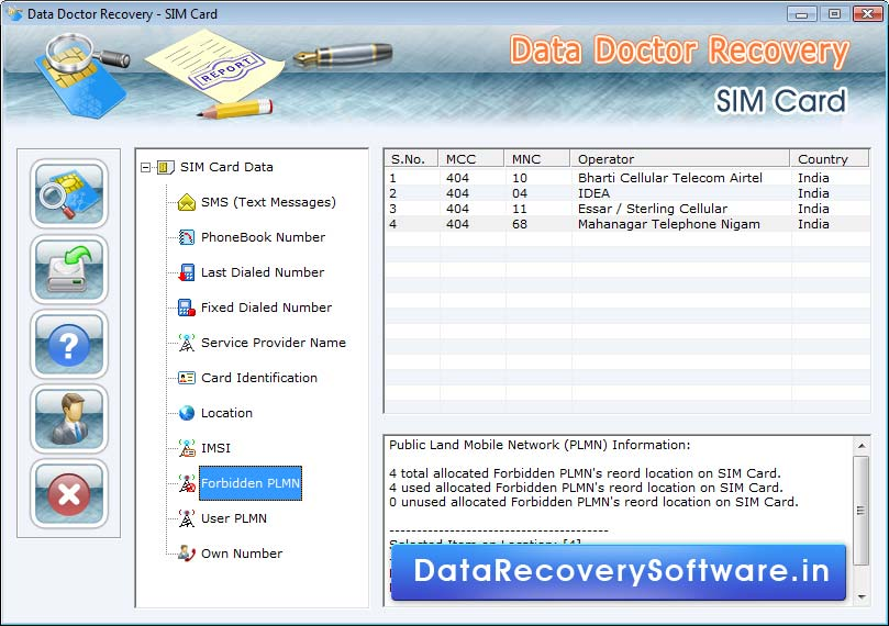 Mobile Sim Card SMS Recovery 5.3.1.2