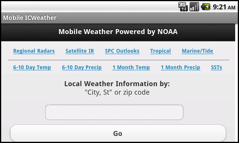 Mobile Weather Powered By NOAA 2.1