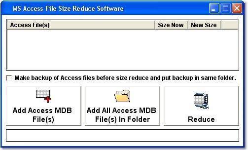 MS Access File Size Reduce Software 7.0