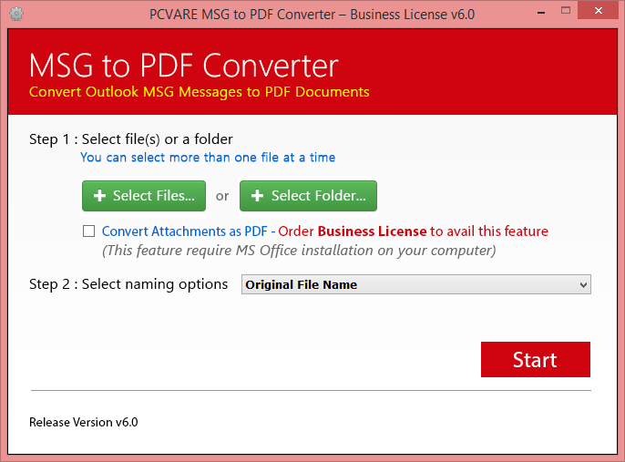 MSG to PDF Converter 4.0