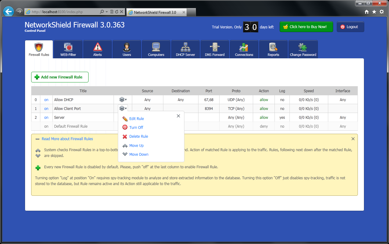 NetworkShield Firewall 3.0.363
