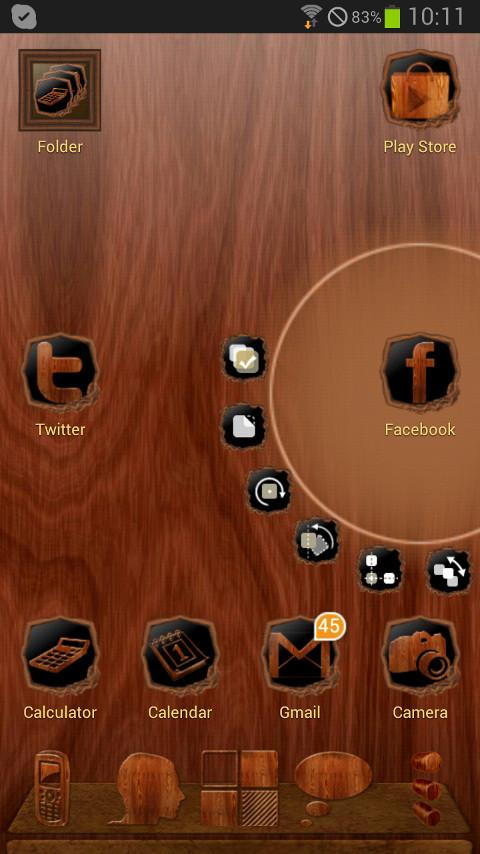 Next Launcher Wood Theme 1.02