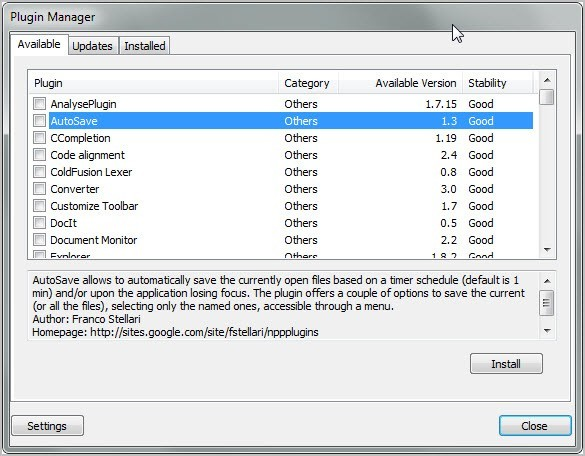 Notepad++ Plugin Manager 1.0.8