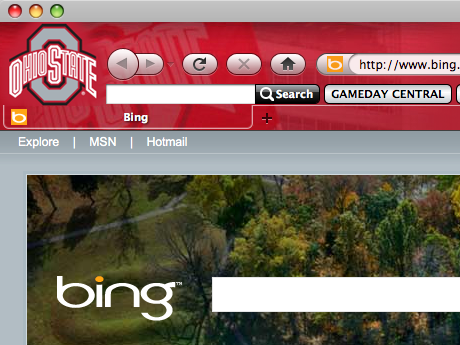 Ohio State Buckeyes IE Browser Theme 0.9.0.1