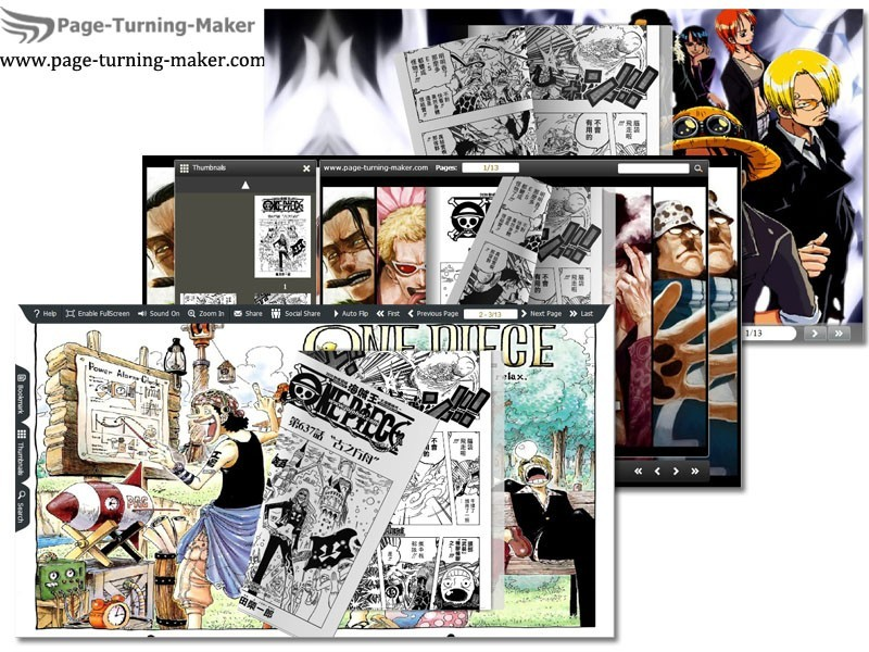 One Piece Theme for Page Turning Book 1.0