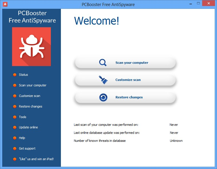 PCBooster Free AntiSpyware 7.3.5