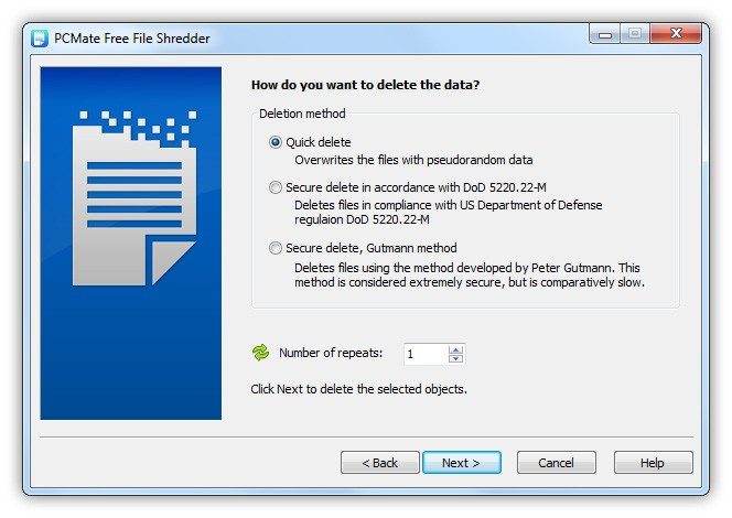 PCMate Free File Shredder 6.6.4