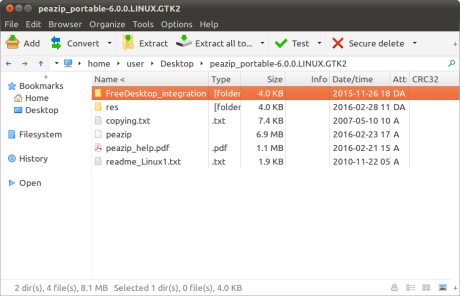 PeaZip for Linux 6.1.1
