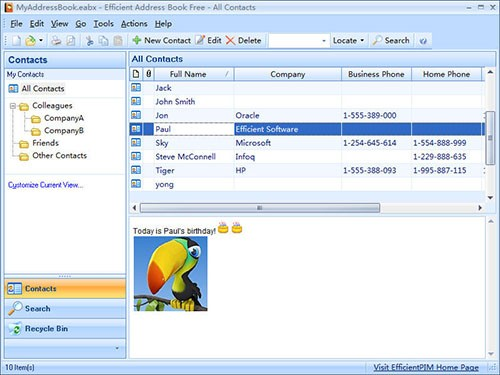 Portable Efficient Address Book Free 5.50.0.542