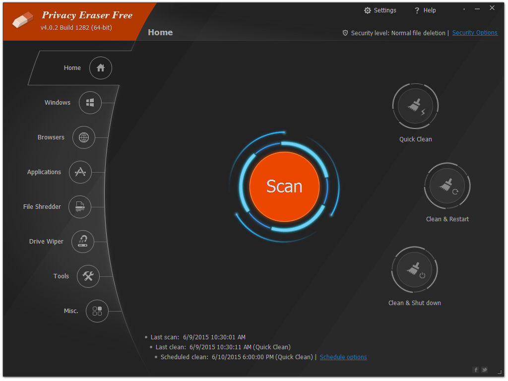 Privacy Eraser Free 4.47