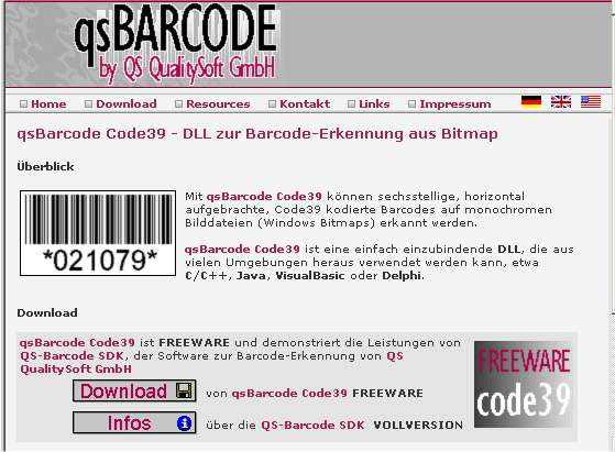 qs Barcode Code39 Reading 2.0.0.4