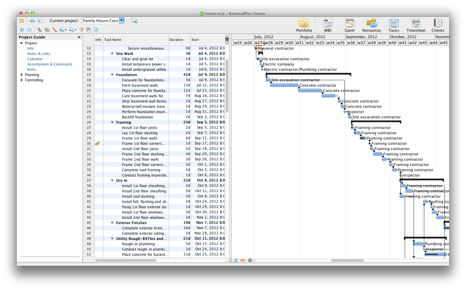 RationalPlan Project Viewer for Mac 4.15.0
