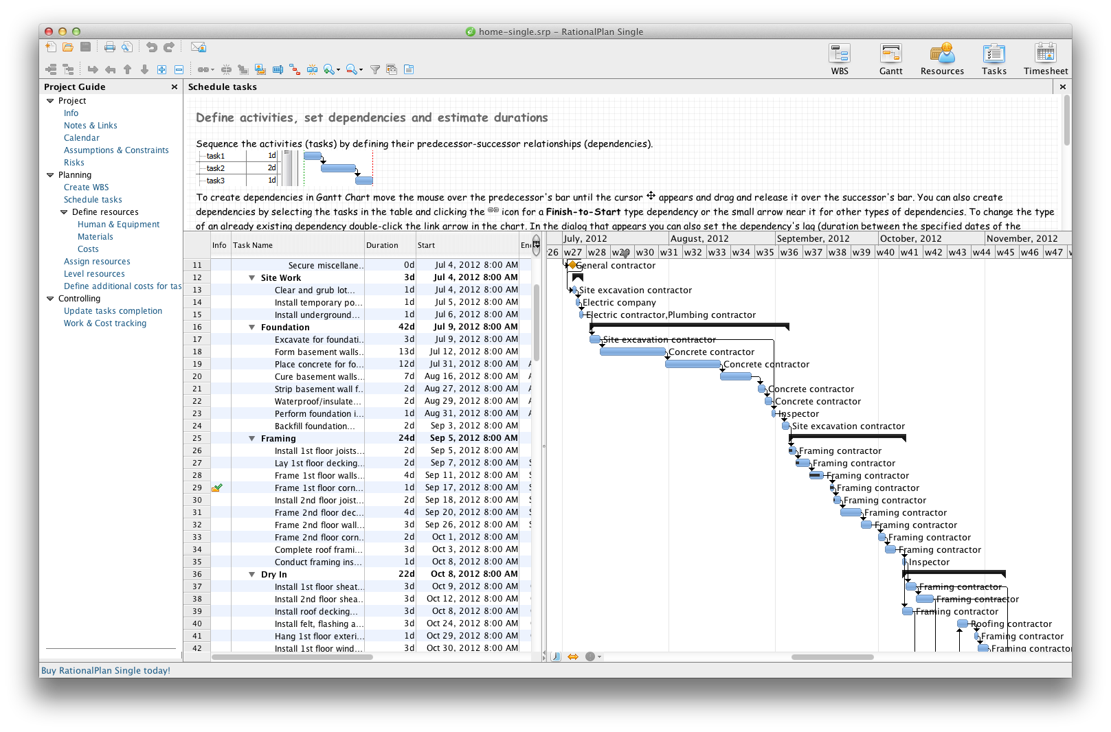 RationalPlan Single Project for Mac 4.15.0