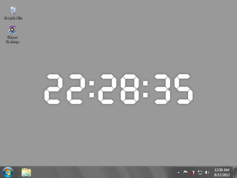 Red Digital Desktop Clock Wallpaper 1.0.0