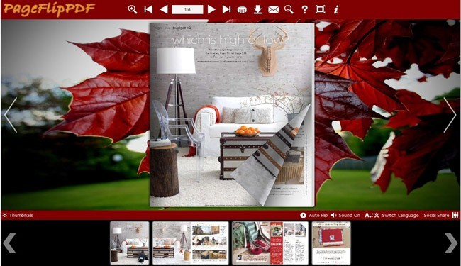 Red Style of Flipping Book Templates 1.0