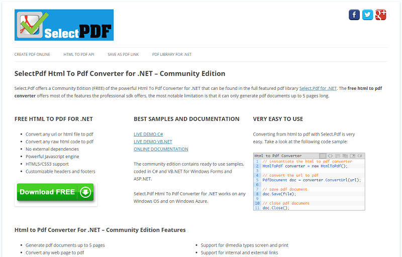 SelectPdf Html To Pdf Converter for .NET 1.2