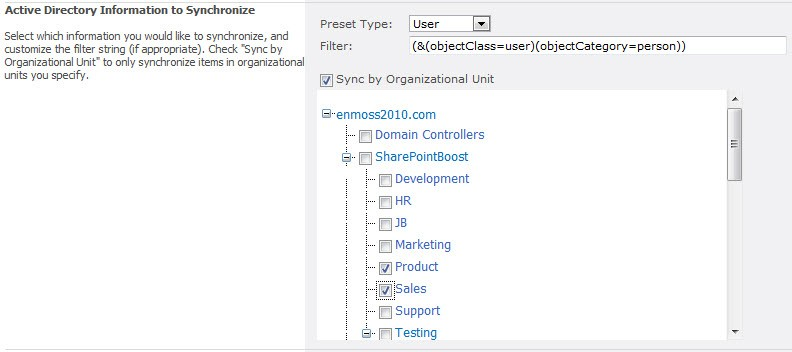 SharePoint AD Information Sync 2.3.508.3