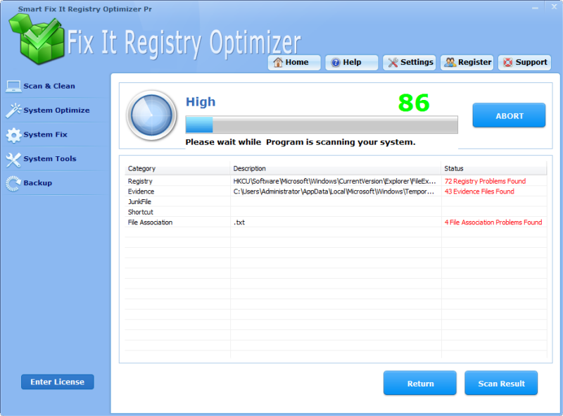 Smart Fix It Registry Optimizer Pro 4.3.5