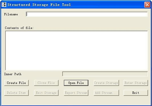 Structured Storage File Tool 1.6.1