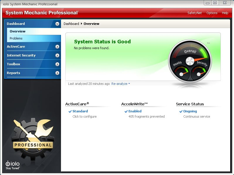 System Mechanic Professional 18.5.1.278