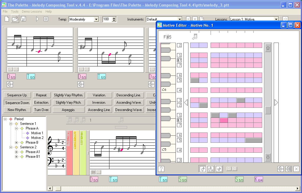 The Palette - Melody Composing Tool 4.4.3
