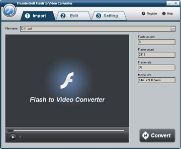 ThunderSoft Flash to Video Converter 2.3.7