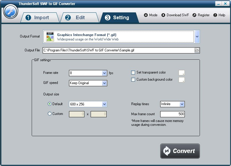 ThunderSoft SWF to GIF Converter 2.3.7