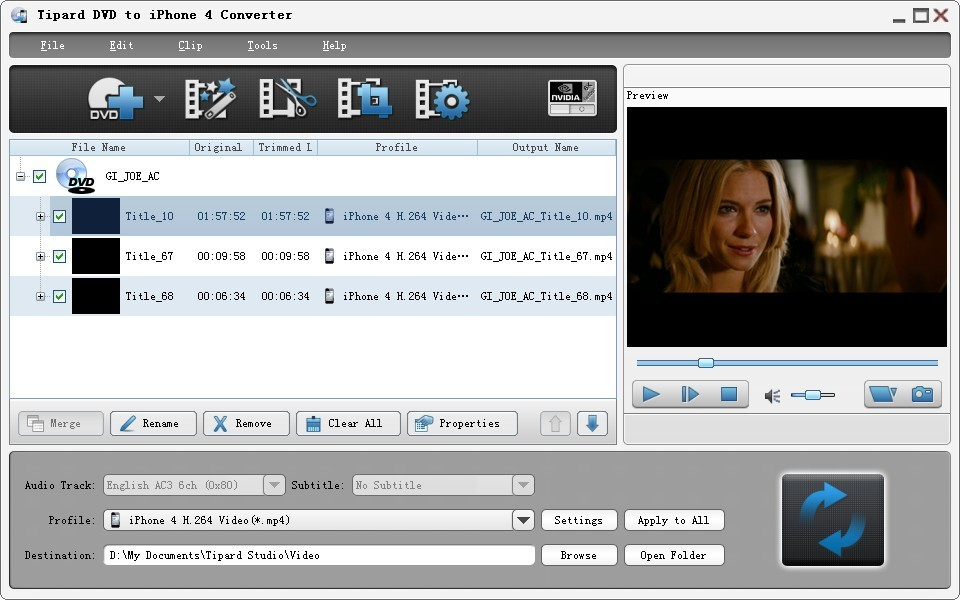 Tipard DVD to iPhone 4G Converter 6.1.28