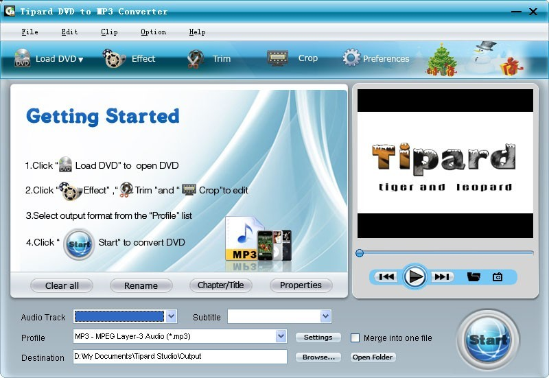 Tipard DVD to MP3 Converter 3.2.32