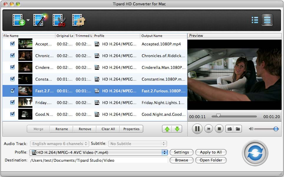 Tipard HD Converter for Mac 5.0.28