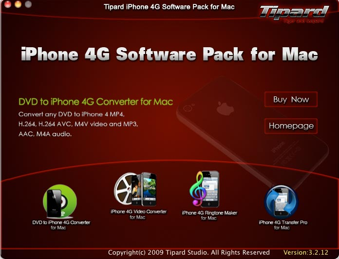 Tipard iPhone 4G Software Pack for Mac 3.1.18