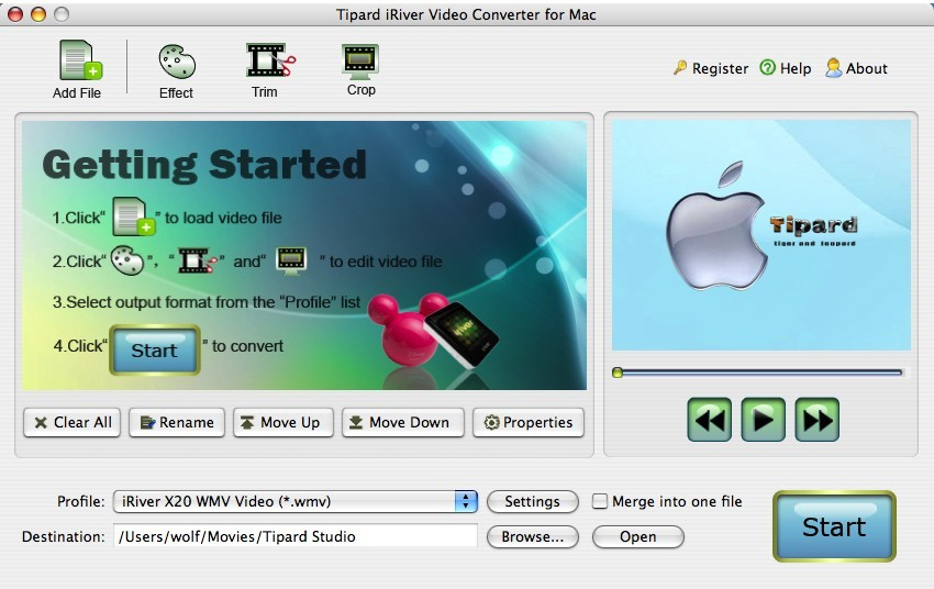 Tipard iRiver Video Converter for Mac 3.6.08