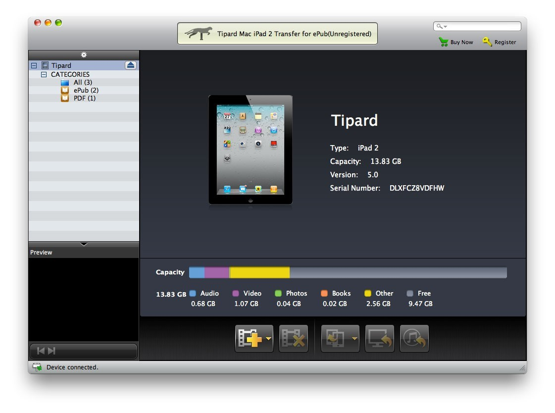 Tipard Mac iPad 2 Transfer for ePub 3.1.10