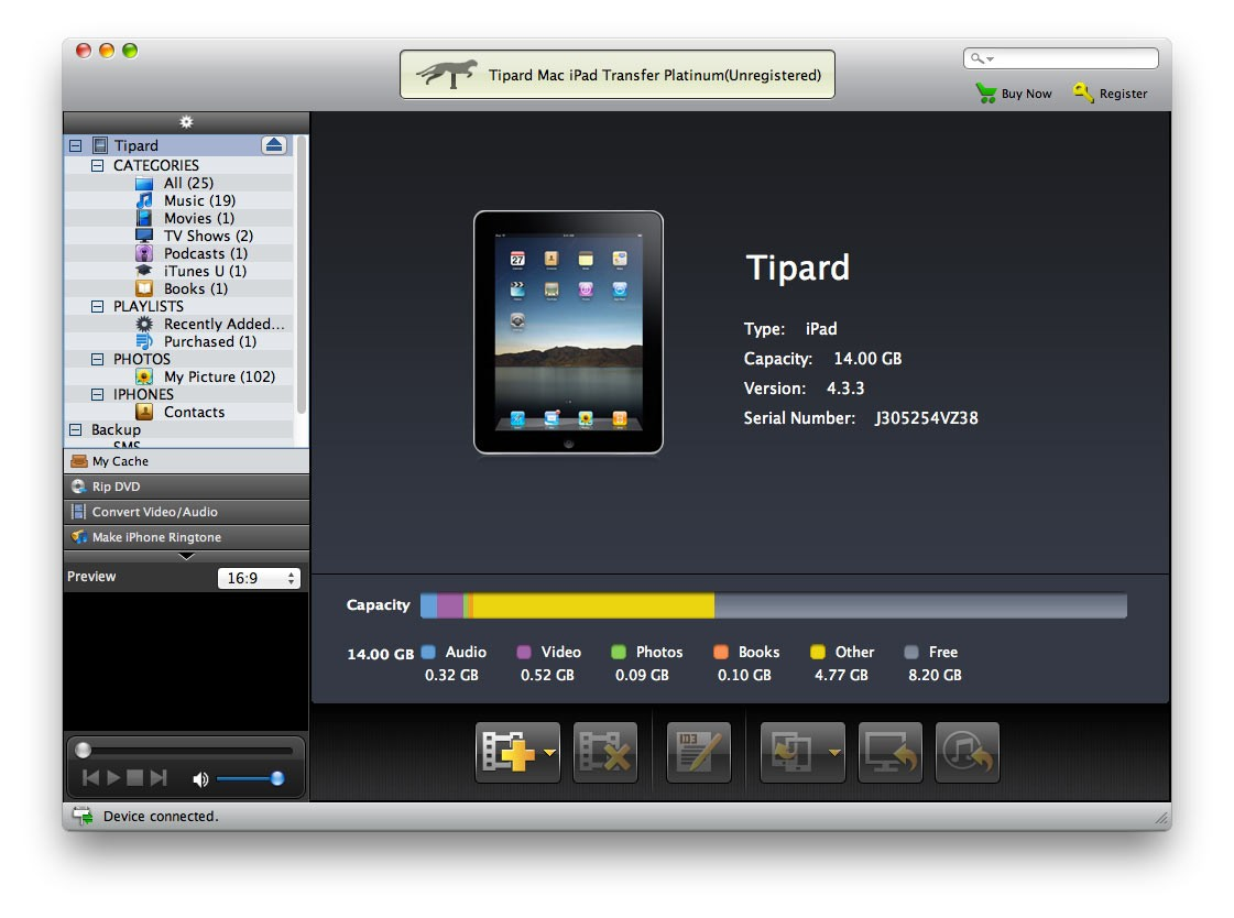 Tipard Mac iPad Transfer Platinum 7.0.28