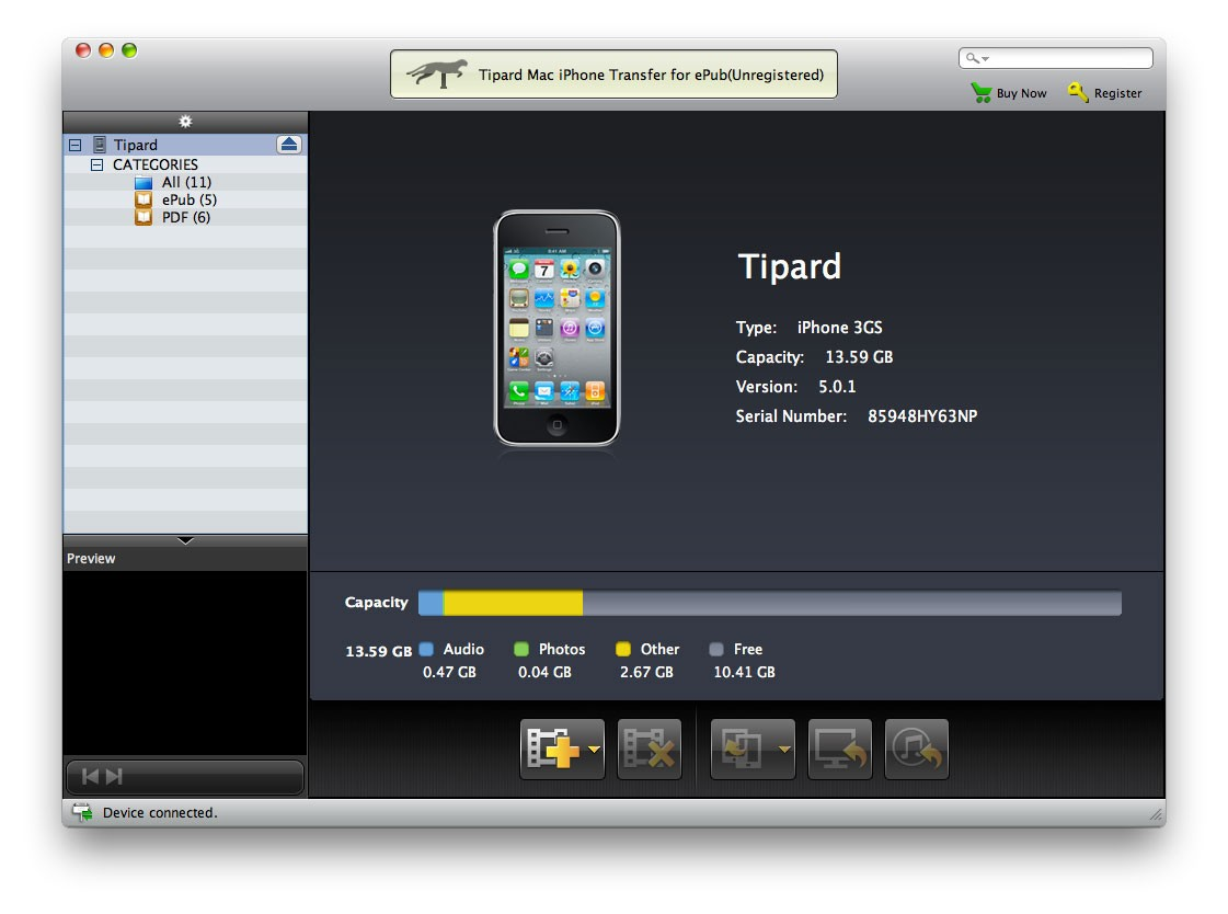 Tipard Mac iPhone Transfer for ePub 7.0.12