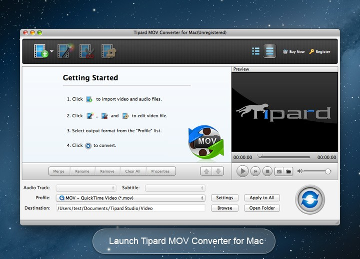 Tipard MOV Converter for Mac 3.6.22