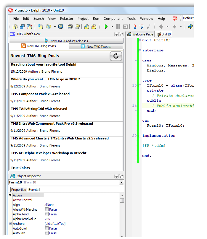 TMS What's New IDE Plugin 3.0.0.0