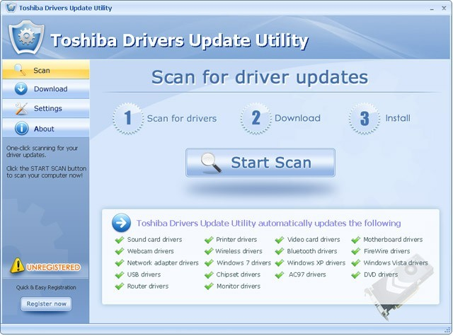 Toshiba Drivers Update Utility For Windows 7 2.8